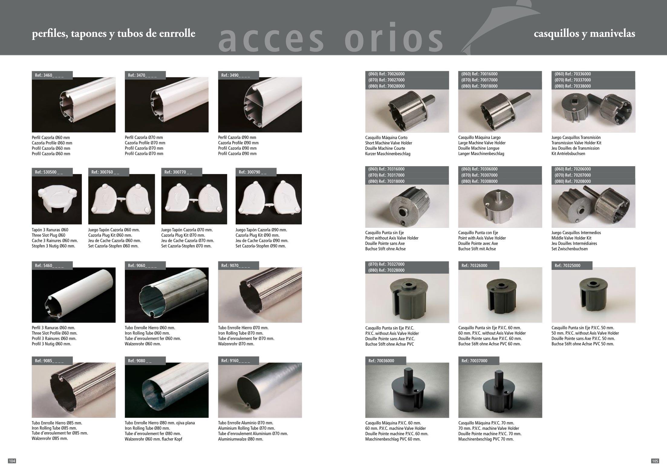 accesorios para toldos y verticales stadia store