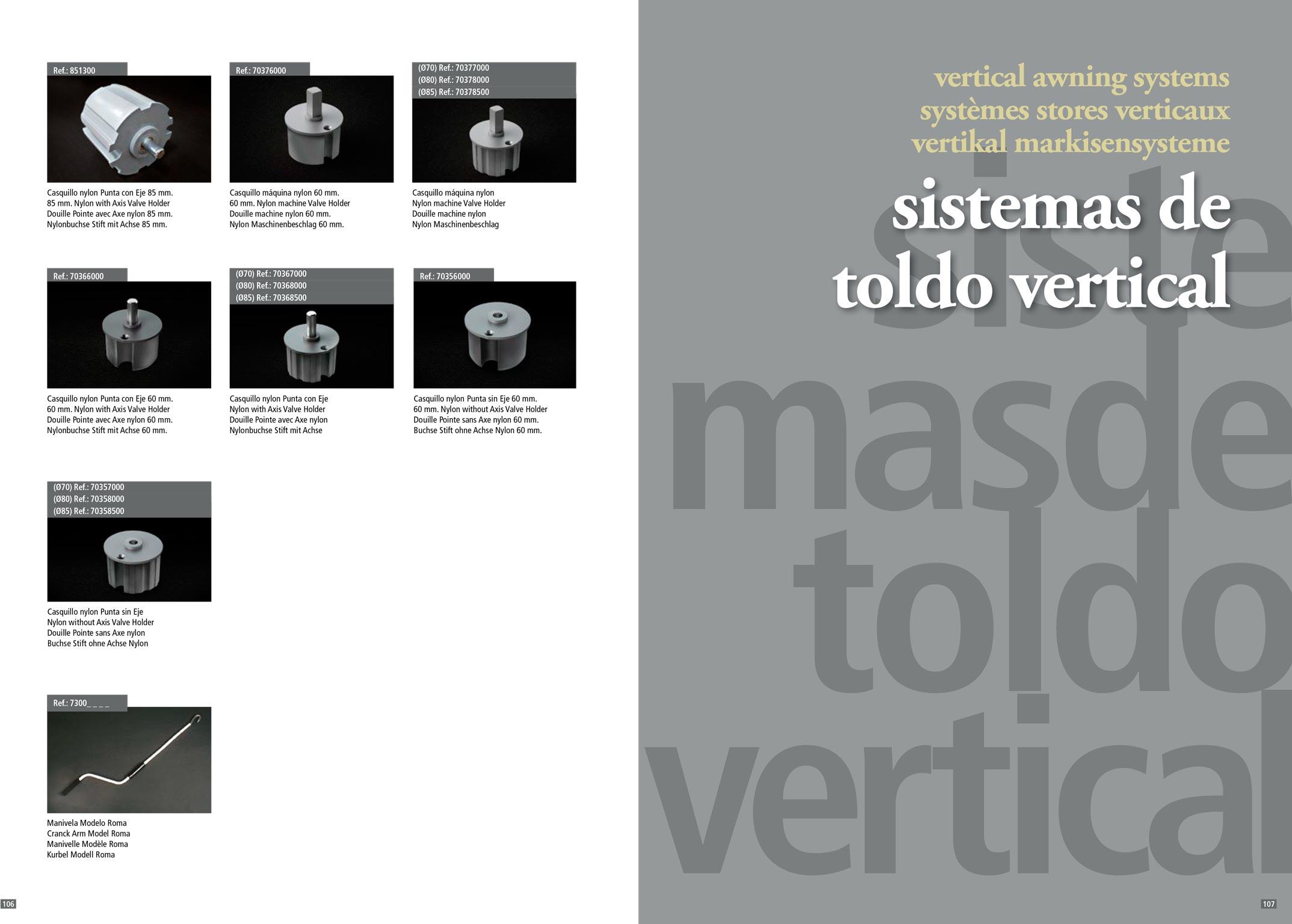 Accesorios para toldos y verticales stadia store - Toldos verticales enrollables ...